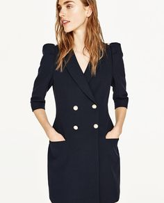 ZARA - EDITORIALS - BLAZER DRESS WITH PEARL BUTTONS