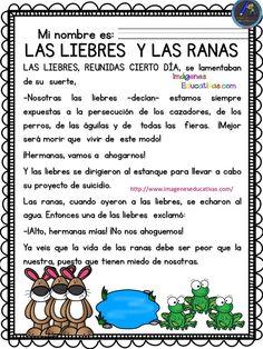 28 Ideas De Fabula Cuentos Cortos Para Imprimir Lectura Cortas Para Niños Cuentos Infantiles Para Leer