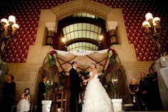 Rotunda in the Historic Landmark Building at PAFA - Pennsylvania Academy of the Fine Arts. Design by Beautiful Blooms.