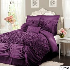 L'Amour Eternel Lucia 4-piece Comforter Set - Overstock™ Shopping - Great Deals on Lush Decor Comforter Sets