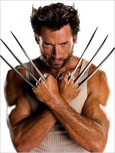 Hugh Jackman as Wolverine. .....Uploaded By  www.1stand2ndtimearound.etsy.com
