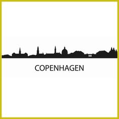 COPENHAGEN City Decal Landmark Skyline Wall Stickers Sketch Decals Poster Parede Home Decor Sticker