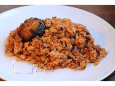 Nigerian Recipe -  Nigerian Rice and Beans
