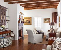 Neutral doesn't need to be boring! More of our favorite low-key looks here: http://www.bhg.com/rooms/living-room/makeovers/neutral-color/?socsrc=bhgpin070514brownlivingroompage=5