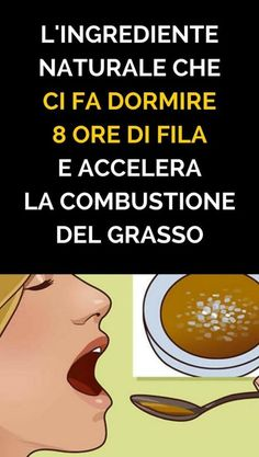 L'Ingrediente Naturale Che Ci Fa Dormire 8 Ore Di Fila e Accelera La Combustione Del Grasso Detox Diet Drinks, Healthy Drinks, Healthy Tips, Healthy Skin, Health And Beauty, Health And Wellness, Health Fitness, Sr1, Desperate Housewives