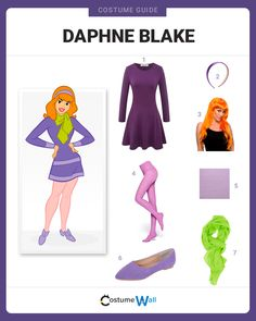 Dress up as Daphne Blake from the Mystery Gang and get ready to solve some mysteries – and look great doing it. Dress up as Daphne Blake from the Mystery Gang and get ready to solve some mysteries – and look great doing it. Scooby Doo Halloween Costumes, Velma Costume, Redhead Costume, Daphne Scooby Doo Costume, Last Minute Halloween Costumes, Cute Halloween Costumes, Halloween Cosplay, Cool Costumes, Halloween Costumes For Redheads
