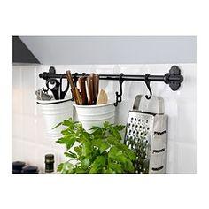 IKEA - FINTORP, Barre support, 57 cm, , Pour obtenir un rail plus long, vous pouvez raccorder deux rails FINTORP ensemble en n'utilisant qu'une seule équerre.
