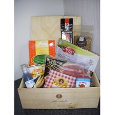 Simon Gault Exclusive Gift Hamper  $109.25 NZD   A nicely packaged Hamper containing international products exclusivley selected and used by Simon Gault.    This hamper contains;  1 x 100ml Balsamusse  1 x 100gr Spanish Serrano Jamon  1 x 60gr Italian Proscuitto di Parma  1 x 100gr Simon Gault Italian Herb Rub  1 x 70gr Spanish smoked Paprika  1 x 200gr Spanish Manchego Cheese  1 x 250gr (appr) Italian Parmigiano Reggiano    1 x 1kg Italian Arborio Rice    1 x 430gr Italian White Asparagus Manchego Cheese, Arborio Rice, Parmigiano Reggiano, Gift Hampers, Smoked Paprika, Parma, Asparagus, Herb, Spanish