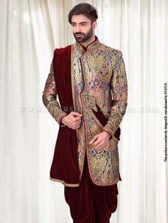 Multi-Meena-Fabric-Indo-Western- IN158
