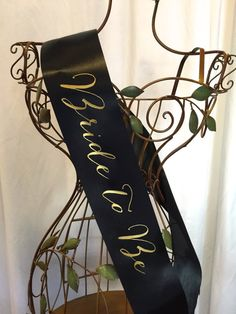 Signature Script Bride to Be Sash  Choose Your by regalribbons