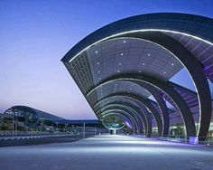 Entrance of Dubai International Airport, UAE. Image courtesy of Dubai Airports via Airport Technology - Hotels Design Architecture Airport Architecture, Architecture Unique, Futuristic Architecture, Interior Architecture, Interior Design, Contemporary Interior, Luxury Interior, Interior Ideas, Pavilion Architecture