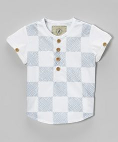 Loving this Blue Checkerboard Tee - Infant on #zulily! #zulilyfinds