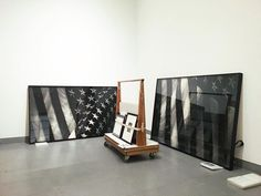 O say, can you see #RobertLongo's charcoal drawings of the Star-Spangled Banner? You will be able to on September 8 when our monumental new show, Proof: Francisco Goya, Sergei Eisenstein, Robert Longo opens. In the meantime, have a happy and safe #4thofJuly! Stay tuned for more behind-the-scenes sneak peeks as we install #proofbkm.
