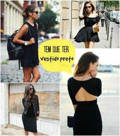 Essenciais: Vestido preto.