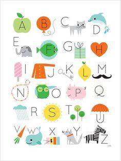 KINDERPOSTERS: Met het alfabet