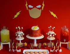 """Rileys """"The Flash"""" Birthday Party - The Flash /red, yellow, and white"""