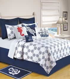 Knotty Buoy Quilt & Accessories C | Tropical, Seashell, Nautical & Beach Bedding, Quilts, Duvets and Comforter Sets | PaulsHomeFashions.com