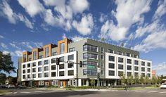 My Block Wash Park Denver, CO RHEINZINK preweathered Graphite Gray Zinc Flatlock Panels Fabricated by MetalTech-USA Architect: Shears Adkins Rockmore