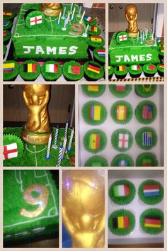 Fondant Fetish - World Cup cake & 16 qualifying country cupcakes (for 2014)