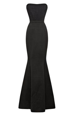 Combo Fishtail Evening Gown by Katie Ermilio for Preorder on Moda Operandi
