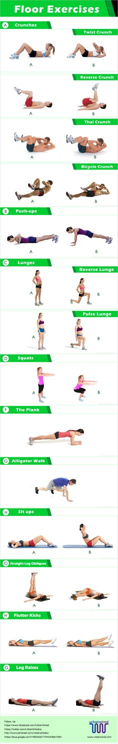 Floor exercises on pinterest for Floor ab workouts