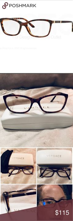 6cae1905887c Versace Eyeglasses VE 3186 5077 Authentic stylish new this season Versace  plastic tort frames. Model