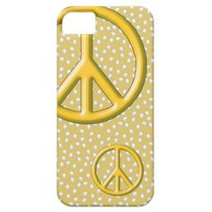 Hippie Yellow peace sign iPhone 5 Cases