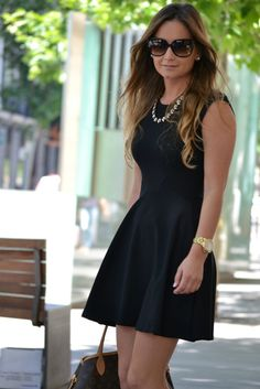 The perfect little black dress ( Sunglasses & Necklaces ) I do think it would look even better in peach.