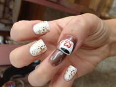 Cute hot chocolate #nails !!