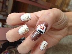 Cute hot chocolate #nails !!