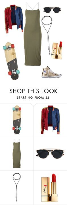 """ma certi."" by lux1905 ❤ liked on Polyvore featuring T By Alexander Wang, Christian Dior, Yves Saint Laurent, Converse, rockerchic and rockerstyle"