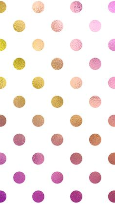 rainbow polka dots free iPhone wallpaper