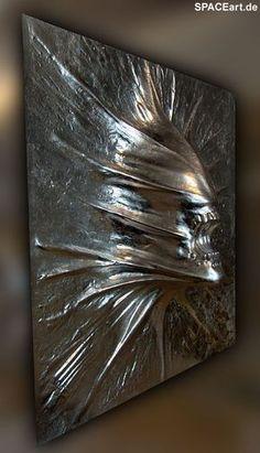 Alien: Silver Wallplaque, Fertig-Modell ... http://spaceart.de/produkte/al168.php