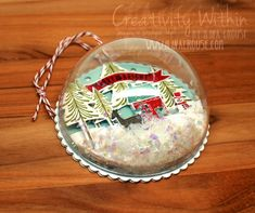 Creativity Within : Dome Christmas Ornaments How cute and creative!