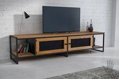 Szafka RTV APRIL – Pracownia Mebli z metalu i drewna industrialne i loftowe meble