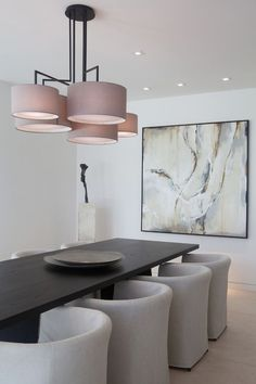 luxurious modern dining room