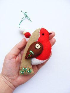 Felt christmas bird::
