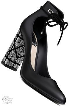 Brilliant Luxury ♦ Dior Black Smooth Calfskin Pump