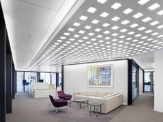 Perceptive Advisors  Designer: Nelson    #perceptiveadvisors #office #nelson #tagwall #industrialsash #interiordesign #officedesign #walldesign #workspaces Workspaces, Wall Design, Sash, Divider, Walls, Industrial, Interior Design, Room, Furniture