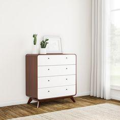 Online Furniture, Bedroom Furniture, Bedroom Decor, Bedroom Ideas, Mid Century Modern Dresser, Mid Century Furniture, Teen Dresser, Classic Furniture, Chest Of Drawers