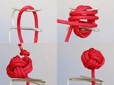 Here is a cool resource for making knots. These knot animations help you see how to make some cool knots. Check out the decorative knots like the Monkey's Fist! - Link Hey, can you make cool knots?have always wanted to know how to make a monkey fist Rope Knots, Macrame Knots, Monkey Fist Knot, Paracord Projects, Diy Projects, Sewing Hacks, Diy Gifts, Diy Jewelry, Creations
