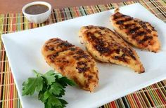 Grilled Honey Mustard Chicken Breasts - For the love of cooking Meat And Potatoes Recipes, Meat Sauce Recipes, Meat Loaf Recipe Easy, Meat Recipes For Dinner, Baked Chicken Recipes, Grilling Recipes, Cooking Recipes, Kitchen Recipes, Grilled Honey Mustard Chicken