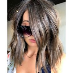 Were always on the lookout for an ashy brunette shade, and BTC team member Mika Rogerson (mikaatbhc) delivered! So, how did Mika make this cool brown happen She started with babylights, then app Brunette Bayalage, Gray Balayage, Hair Color Balayage, Brunette Hair, Hair Highlights, Ashy Brown Hair Balayage, Haircolor, Blonde Hair, Grey Brown Hair