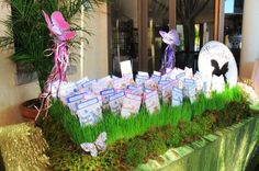 Bat/Bar Mitzvah Blog - Mitzvahlicious Seed Packet Place Card display for Fairy Themed Mitzvah