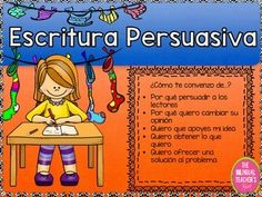 The Persuasive Writing package in Spanish is a great product to help you teach Persuasive Writing to your students.