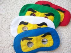 NINJAGO-FELT-MASKS-felt-party-favor-set-of-4-party-supplies