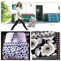 Vera Bradley Camellia Grand Tote BlackWhite Floral Brand new with tags!! Never used!! Vera Bradley Grand Tote. It's extra large and roomy! Black and white flower pattern. Camellia. Large enough for an overnight bag or a beach bag. Perfect condition, it was a gift but I don't use Vera Bradley really so my loss is your gain!! Vera Bradley Bags