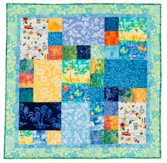 Martingale - Simple Style (Print version + eBook bundle) I WOULD REARRANGE THE SQUARE PLACEMENTS. Quilting For Beginners, Quilting Tutorials, Quilting Projects, Quilting Ideas, Jellyroll Quilts, Easy Quilts, Easy Quilt Patterns, Pattern Blocks, Girls Quilts