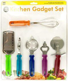 Kitchen Gadget set - Green, Blue, Red, Orange, Sil - 1 Units