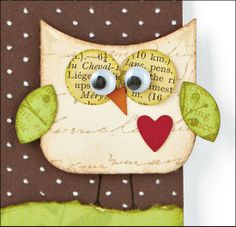 owl greeting card - could adapt to felt(?)